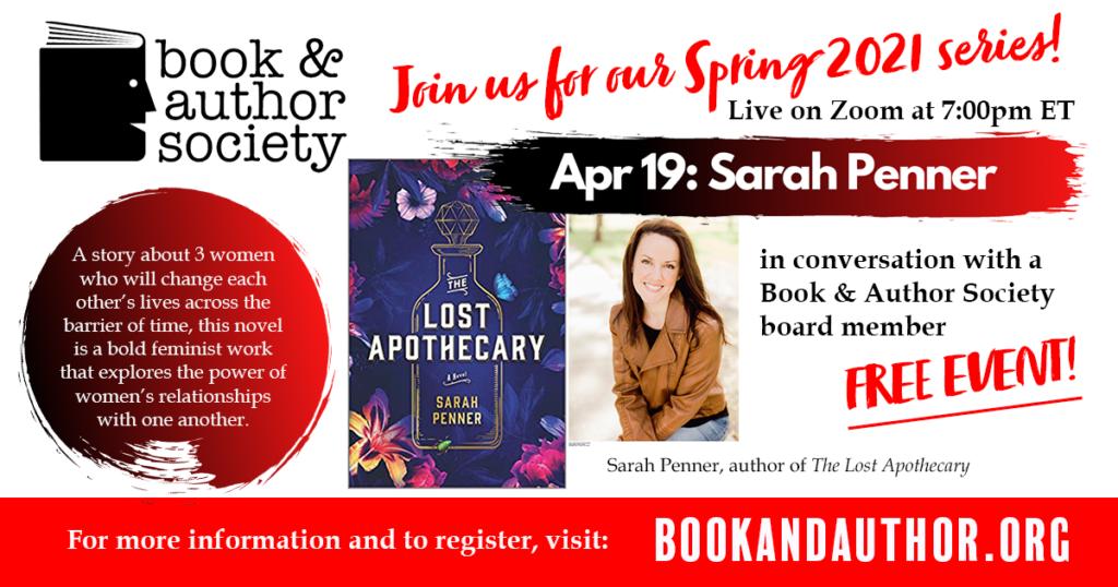 Sarah Penner Event April 19th